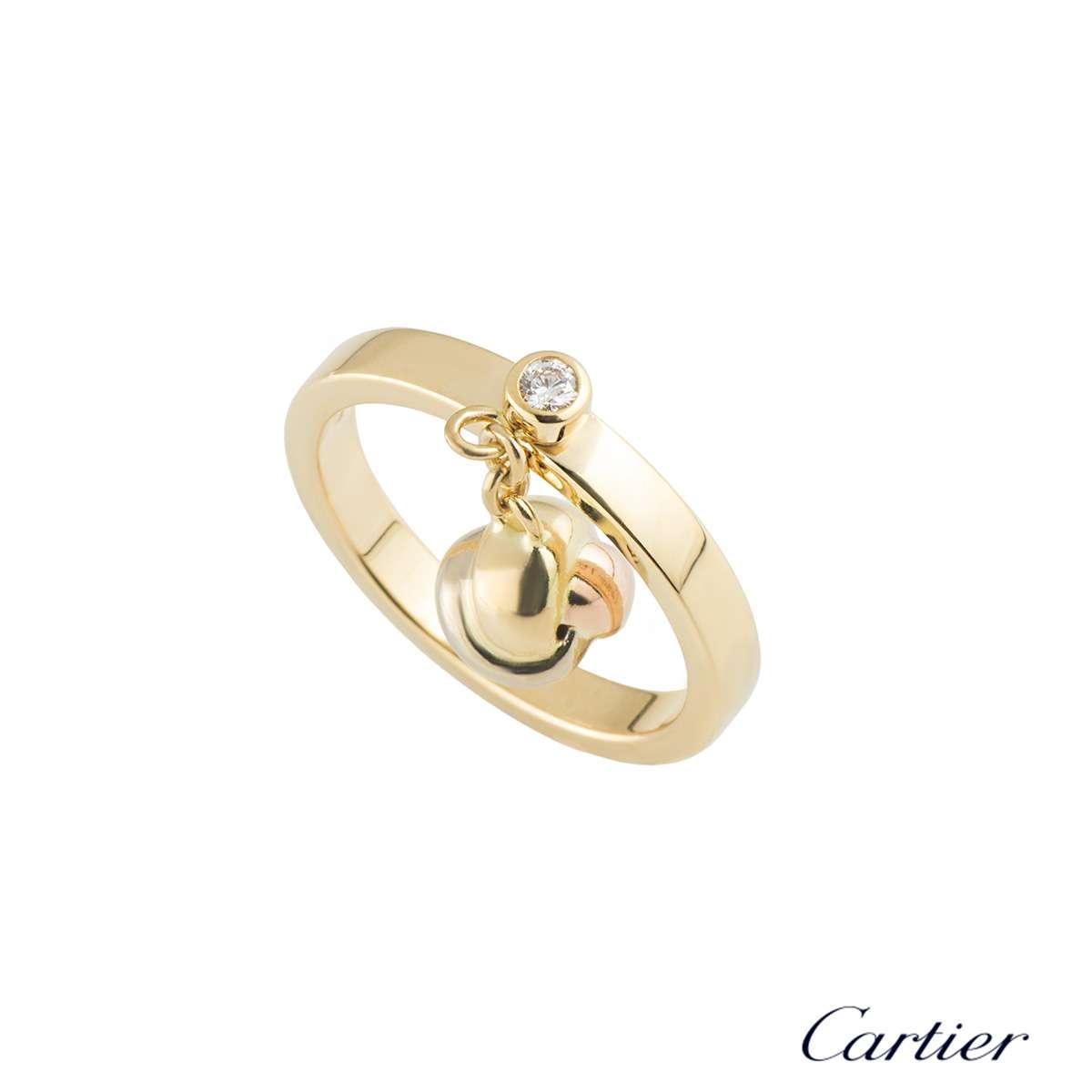 Cartier Diamond Set Trinity Ring